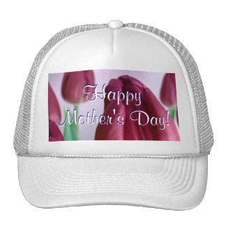 Happy Mother's Day Rosey Tulips Trucker Hat