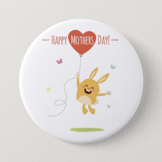 Happy Mothers Day Round Button