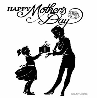 Happy Mothers Day Silhouette Standing Photo Sculpture