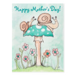 Happy Mother's Day Snails Postcard