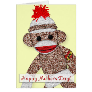 """Happy Mother's Day!"" Sock Monkey Tattoo card note"