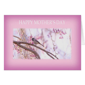 Happy Mother's Day Sparrow and Weeping Willow Card