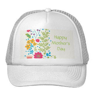 Happy Mother's Day Spring Flowers Cap