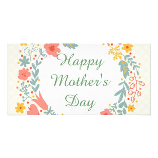 Happy Mother's Day Spring Flowers Photo Card Template