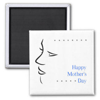Happy mothers day square magnet