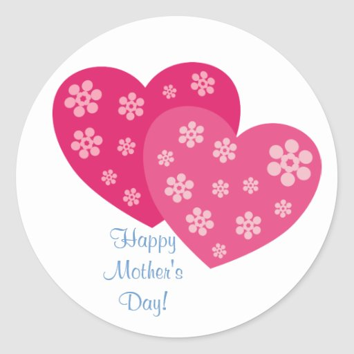Happy Mother's Day Round Stickers