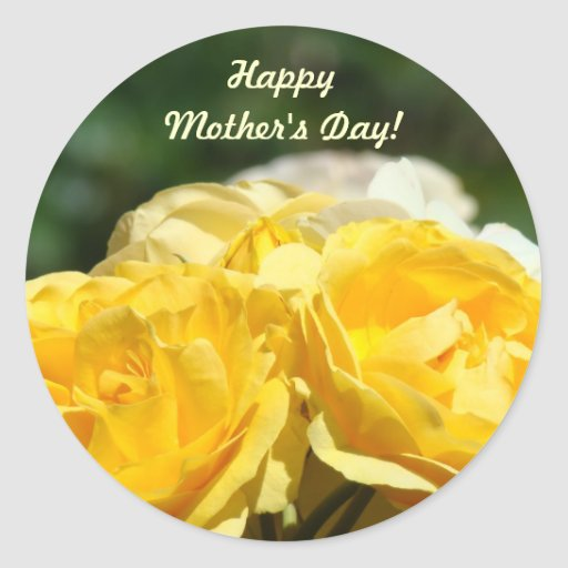 Happy Mother's Day! stickers Yellow Roses Garden