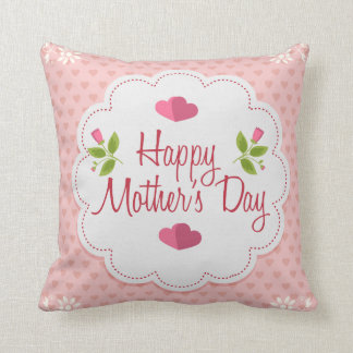 Happy mother's day throw cushion