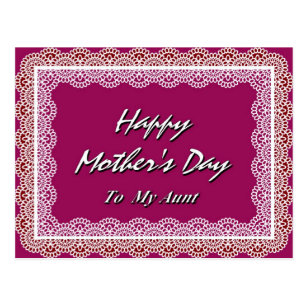 happy mothers day aunt invitations stationery zazzle au