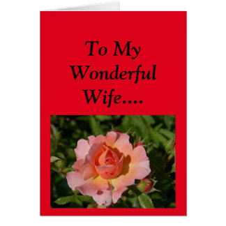 Happy Mother's Day to My Wife! Card