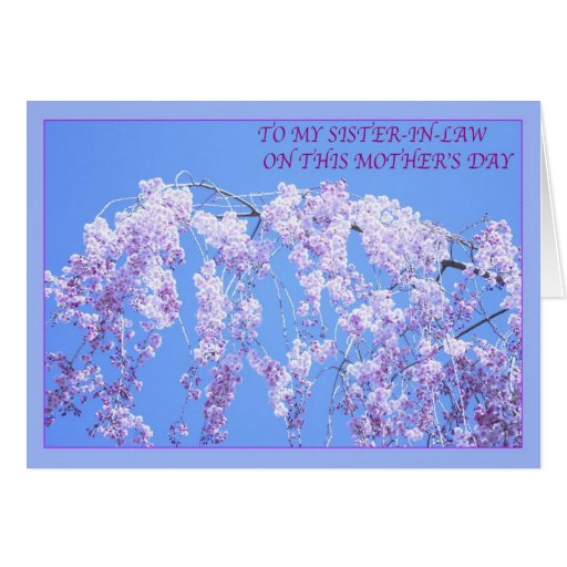 Happy Mother's Day To Sister-in-Law Willow Card | Zazzle