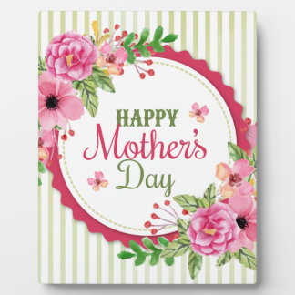 Happy mother's day vintage flower bouquet frame