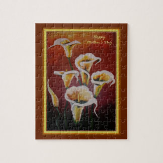 Happy Mother's Day - White Calla Lilies Puzzles