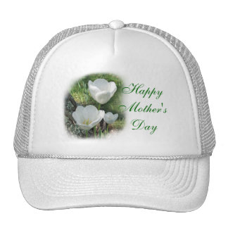 Happy Mother's Day White Tulips Cap