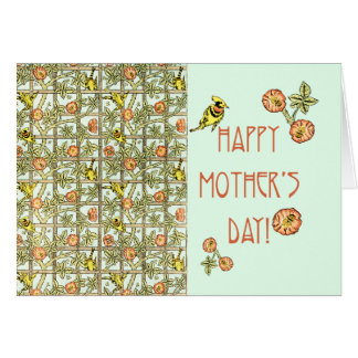 Happy Mothers Day William Morris Print Card