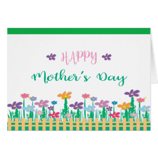 Happy Mother's Day ❤️ with Flowers, Unique Card