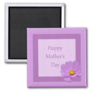 Happy Mother's Day with Light Purple Flower Fridge Magnets