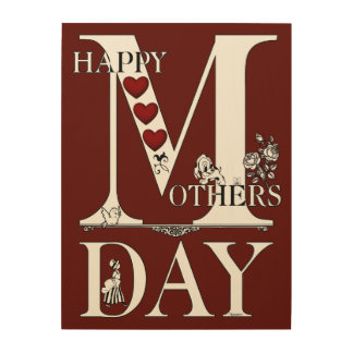 Happy Mothers Day Wood Canvas