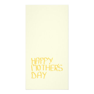 Happy Mothers Day. Yellow. Picture Card