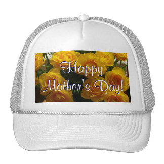 Happy Mother's Day Yellow Roses Mesh Hat
