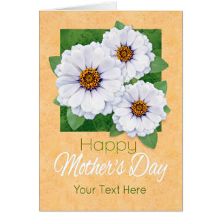 Happy Mother's Day Zinnia Garden Custom Card