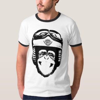 Happy Moto Monkey (black) T-Shirt