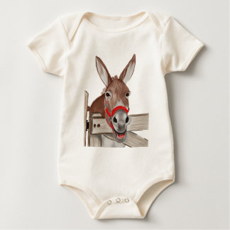 Happy Mule PNG Baby Bodysuit