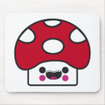 Happy Mushroom Mouse Pads