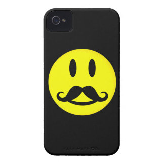 Happy Mustache Smiley iPhone 4 case-mate iPhone 4 Case-Mate Case