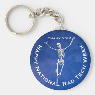 """Happy National Rad Tech Week"" with Skeleton Key Ring"