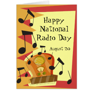 Happy National Radio Day, August 20 Card