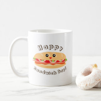 Happy National Sandwich Day Cute And Kawaii Coffee Mug