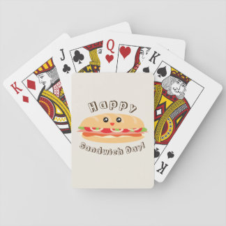 Happy National Sandwich Day Cute And Kawaii Poker Deck
