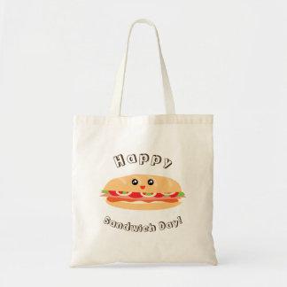 Happy National Sandwich Day Cute And Kawaii Tote Bag
