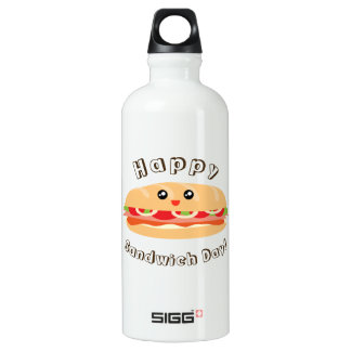 Happy National Sandwich Day Cute And Kawaii Water Bottle