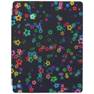 Happy Neon Star iPad Cover