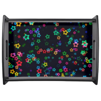 Happy Neon Star Serving Tray