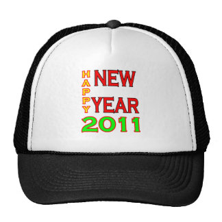 Happy New Year 2011 Green-Red Hat
