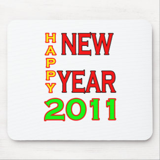 Happy New Year 2011 Green-Red Mousepads