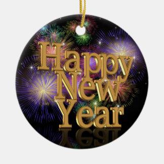 Happy New Year 2012 fireworks ornament