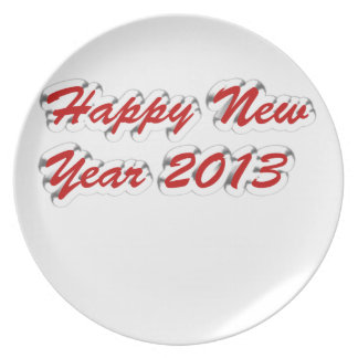Happy New Year 2013 Dinner Plate