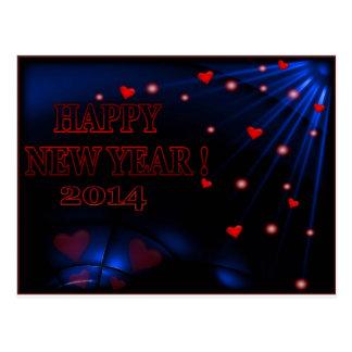 Happy New Year 2014 calender Postcard