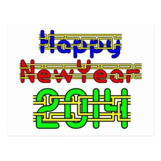 Happy New Year 2014 Postcard