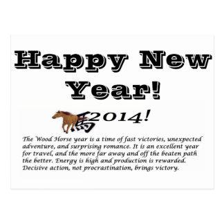 Happy New Year,2014 Postcard