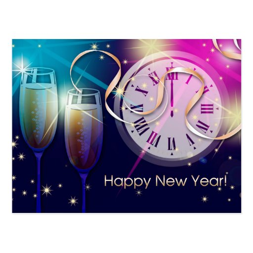 Happy New Year 2015. Customizable Postcards