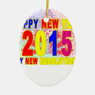 HAPPY NEW YEAR 2015 M.png Ceramic Oval Decoration