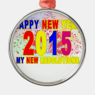HAPPY NEW YEAR 2015 M.png Recta Ornament