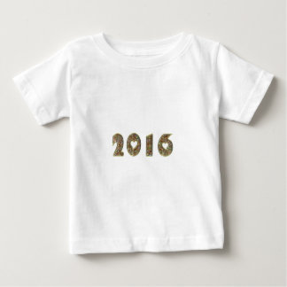 Happy New Year 2016 Gold Glitter Typography Baby T-Shirt