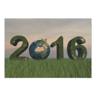 Happy new year 2016 photographic print