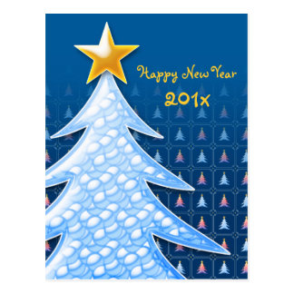 Happy New Year 2016 - Unique Christmas trees Postcard